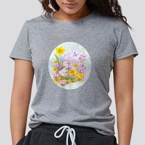 Cute Easter Duckling Chick and Spring Flowers T-Sh